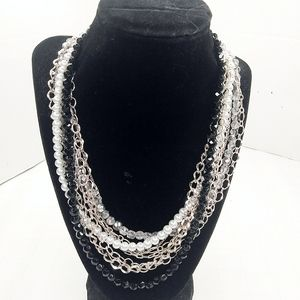 WHBM Multi Strand Mixed Media Pearl Bling Beaded